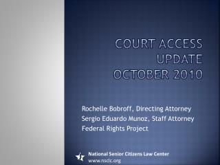 Court access update october 2010
