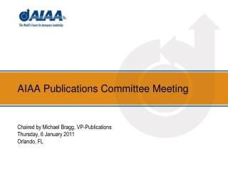 AIAA Publications Committee Meeting