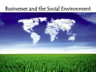 Businesses and the Social Environment