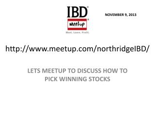 http://www.meetup.com/northridgeIBD/
