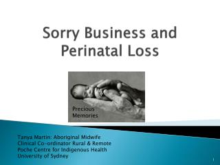 Sorry Business and Perinatal Loss