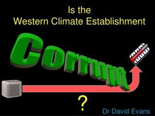 Is the  Western Climate Establishment