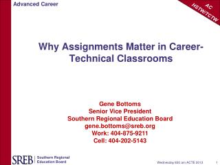 Why Assignments Matter in Career-Technical Classrooms