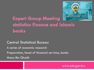 Expert Group Meeting statistics finance and Islamic banks