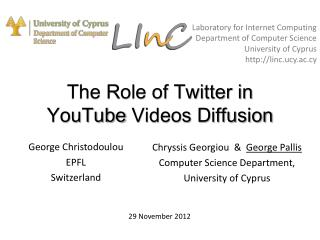 The Role of Twitter in YouTube  Videos Diffusion