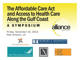 Morning Plenary:  Implementation of The Affordable Care Act