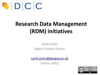 Research Data Management (RDM) initiatives