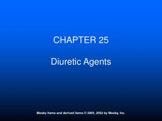 CHAPTER 25 Diuretic Agents