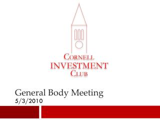 General Body Meeting