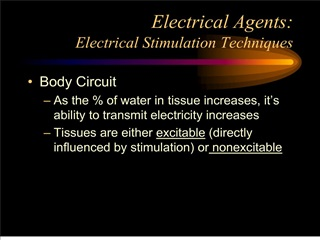 Electrical Agents: Electrical Stimulation Techniques