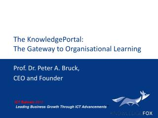 The KnowledgePortal: The Gateway to Organisational Learning