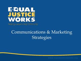 Communications & Marketing Strategies