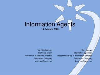 Information Agents 14 October 2003