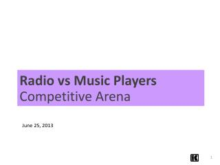Radio vs Music Players  Competitive Arena