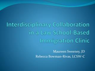 Interdisciplinary Collaboration in a Law School-Based Immigration Clinic