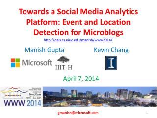 Towards a Social Media Analytics Platform: Event and Location Detection for Microblogs