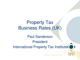 Property Tax Business Rates (UK)