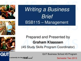 Writing a Business Brief BSB115 – Management