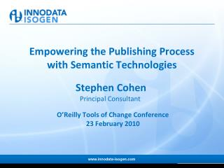 Empowering the Publishing Process  with Semantic Technologies