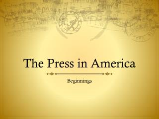 The Press in America