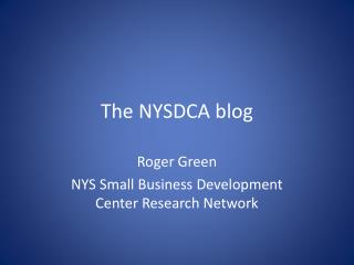 The NYSDCA blog