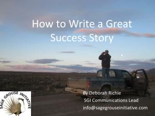 How to Write a Great Success Story