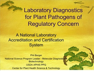 Laboratory Diagnostics for Plant Pathogens of Regulatory Concern