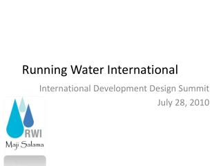 Running Water International