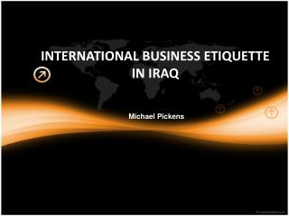 International Business Etiquette in Iraq