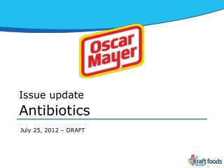 Issue  update Antibiotics