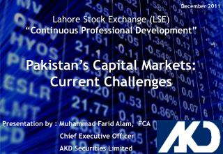 "Lahore Stock Exchange (LSE ) ""Continuous Professional Development"""