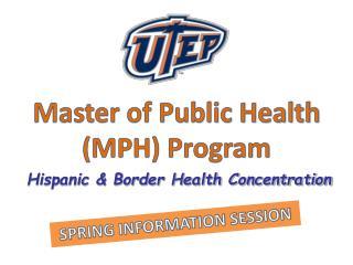 Master of Public Health (MPH) Program