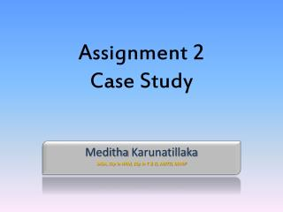 Assignment 2 Case Study