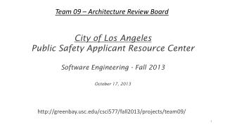 Team 09 – Architecture Review Board
