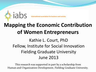 Mapping the Economic Contribution of Women Entrepreneurs