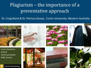 Plagiarism – the importance of a preventative approach