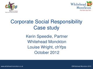 Corporate Social Responsibility Case study