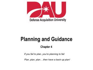 Planning and Guidance