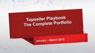 Topseller  Playbook  The Complete Portfolio