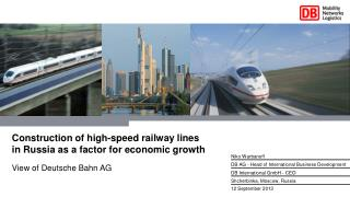Construction of high-speed railway lines in  Russia as  a  factor for economic growth