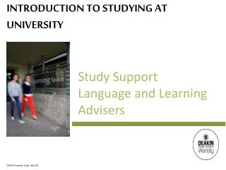 Introduction to Studying at University