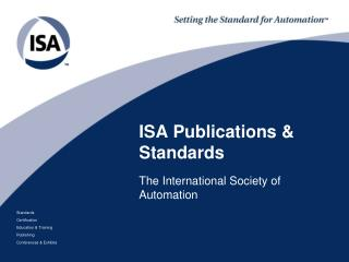 ISA Publications  & Standards