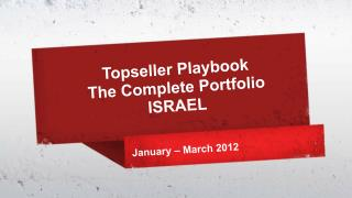 Topseller  Playbook  The Complete Portfolio ISRAEL