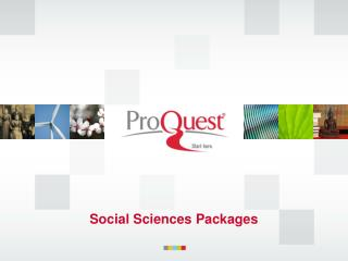 Social Sciences Packages