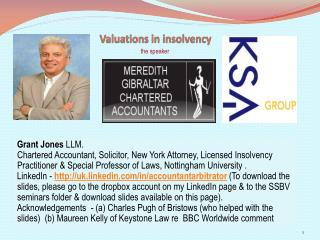 Valuations in insolvency