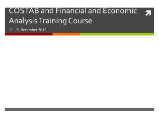 COSTAB and Financial and Economic Analysis Training Course