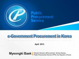 e-Government Procurement  in  Korea