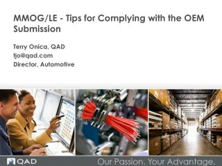 MMOG/LE - Tips for Complying with the OEM Submission