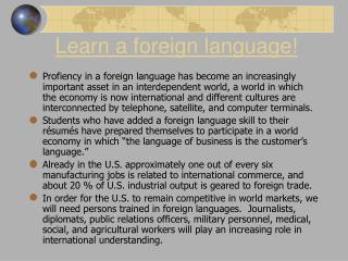 Learn a foreign language!