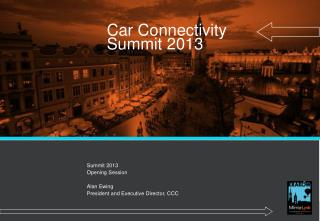 Car Connectivity Summit 2013